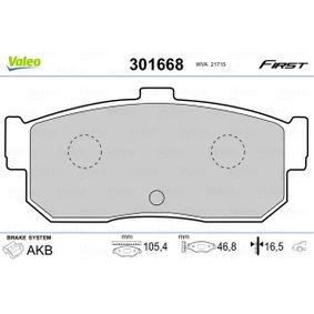 Bremsbelagsatz, Scheibenbremse Breite: 105,4mm, Höhe: 46,8mm, Dicke/Stärke: 16,5mm mit OEM-Nummer 44060 4U090