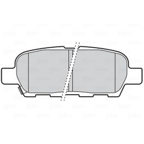 Nissan X Trail t30 2.2dCi 4x4 Bremsbeläge VALEO 301672 (2.2DCi Diesel 2005 YD22DDTi)