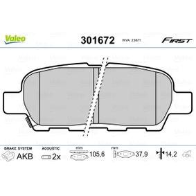 2011 Nissan Qashqai j10 1.6 Brake Pad Set, disc brake 301672