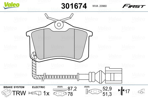 Bremsbelagsatz VALEO 301674 Bewertung