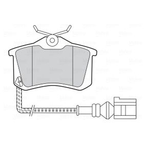 Bremsbelagsatz, Scheibenbremse Breite 2: 78mm, Breite: 87,2mm, Höhe 2: 51,3mm, Höhe: 52,9mm, Dicke/Stärke 2: 17mm, Dicke/Stärke: 17mm mit OEM-Nummer 5K0 698 451 B