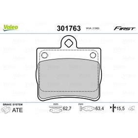 Bremsbelagsatz, Scheibenbremse Breite: 62,7mm, Höhe: 63,4mm, Dicke/Stärke: 15,5mm mit OEM-Nummer A002 420 51 20