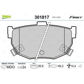 2009 Hyundai Coupe gk 2.7 V6 Brake Pad Set, disc brake 301817