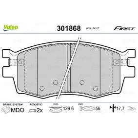 Brake Pad Set, disc brake 301868 RIO 2 (JB) 1.6 CVVT MY 2005