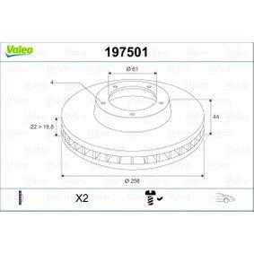 Brake Disc Brake Disc Thickness: 22mm, Rim: 4-Hole, Ø: 258mm with OEM Number 40 206 22 12R