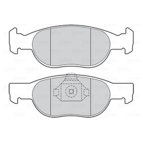Brake Pad Set, disc brake 301605 PUNTO (188) 1.2 16V 80 MY 2002