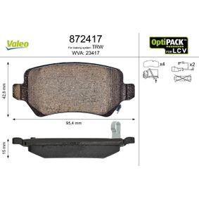 Bremsbelagsatz, Scheibenbremse Breite 1: 95,4mm, Höhe 1: 42,8mm, Dicke/Stärke 1: 15mm mit OEM-Nummer 93 176 118