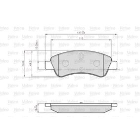 Brake Pad Set, disc brake Width 1: 136,8mm, Height 1: 51,6mm, Thickness 1: 19mm with OEM Number 1637014580