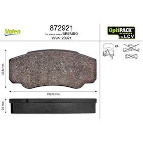 Bremsbelagsatz, Scheibenbremse Breite 1: 109,5mm, Höhe 1: 49,8mm, Dicke/Stärke 1: 20mm mit OEM-Nummer 4254-68