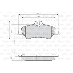 Bremsbelagsatz, Scheibenbremse Breite 1: 136,8mm, Höhe 1: 63mm, Dicke/Stärke 1: 19,5mm mit OEM-Nummer 2E0.698.451
