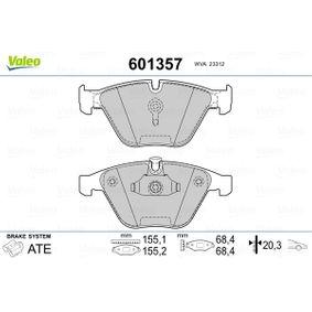 Bremsbelagsatz, Scheibenbremse Breite: 155,2mm, Höhe 2: 68,4mm, Höhe: 68,3mm, Dicke/Stärke: 20,3mm mit OEM-Nummer 3411 2 339 270