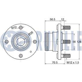 Achslager VW PASSAT Variant (3B6) 1.9 TDI 130 PS ab 11.2000 RUVILLE Lagerung, Achskörper (985708) für