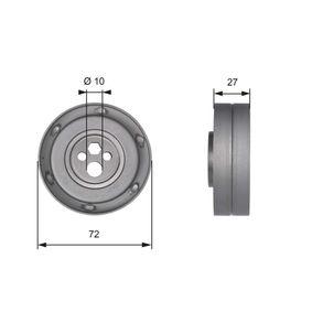 Spannrolle, Zahnriemen Ø: 72mm mit OEM-Nummer 078 109 243C