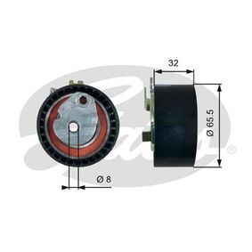 Spannrolle, Zahnriemen Ø: 65,5mm mit OEM-Nummer 130700238R