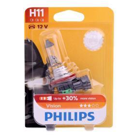 Крушка с нагреваема жичка, фар за дълги светлини H11, 55ват, 12волт 12362PRB1 VW GOLF, PASSAT, TOURAN