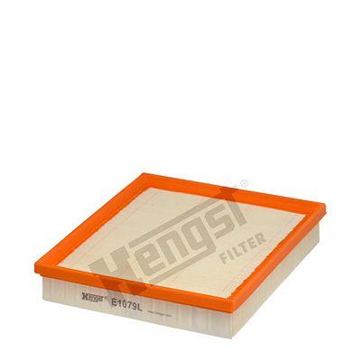 HENGST FILTER  E1079L Luftfilter Länge: 229mm, Breite: 204mm, Höhe: 41mm, Länge: 229mm