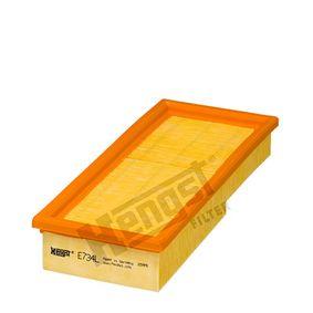 Luftfilter Länge: 271,0mm, Breite: 118,0mm, Höhe: 50,0mm mit OEM-Nummer 05098424 AA