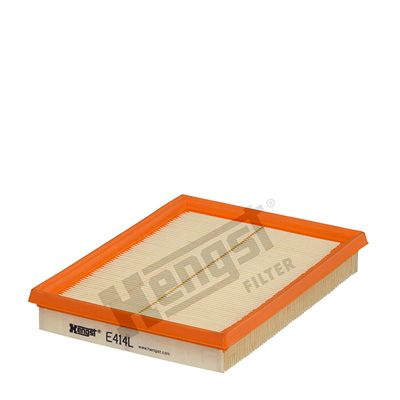 HENGST FILTER  E414L Luftfilter Länge: 216mm, Breite: 166mm, Höhe: 32mm, Länge: 216mm