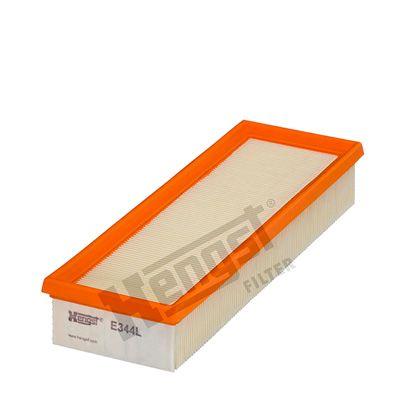 HENGST FILTER  E344L Luftfilter Länge: 297mm, Breite: 102mm, Höhe: 49mm, Länge: 297mm