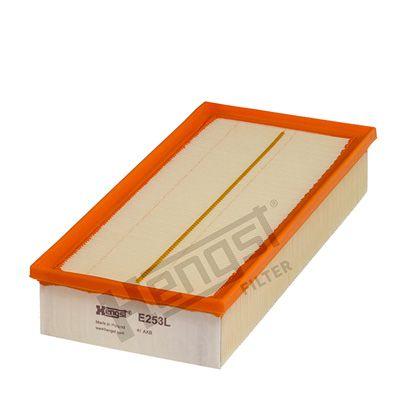 HENGST FILTER  E253L Luftfilter Länge: 312,0mm, Breite: 149,5mm, Höhe: 58,5mm