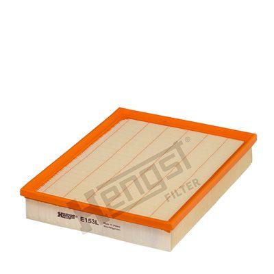 HENGST FILTER  E153L Luftfilter Länge: 287,5mm, Breite: 213,0mm, Höhe: 45,5mm