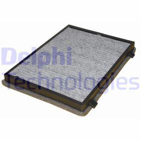 Filter, Innenraumluft Länge: 265mm, Breite: 189mm, Höhe: 26mm mit OEM-Nummer 95599725