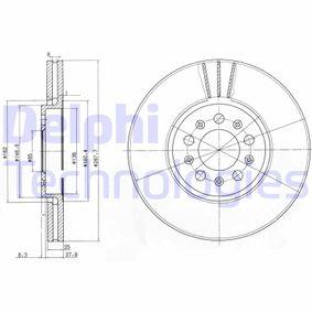 DELPHI  BG3035C Bremsscheibe Bremsscheibendicke: 25mm, Lochanzahl: 5, Ø: 288mm