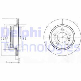 DELPHI  BG3041C Bremsscheibe Bremsscheibendicke: 19mm, Lochanzahl: 5, Ø: 276mm