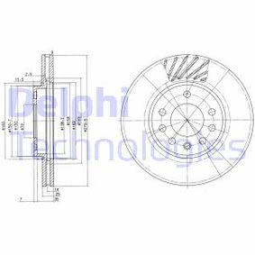 DELPHI Disc frana BG3405C cu OEM Numar 9117678