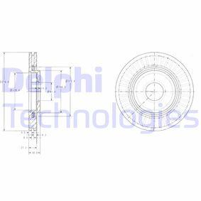 Bremsscheibe Bremsscheibendicke: 22mm, Lochanzahl: 4, Ø: 266mm mit OEM-Nummer 16 18 890 480
