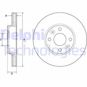 Bremsscheibe Bremsscheibendicke: 22mm, Lochanzahl: 4, Ø: 260mm mit OEM-Nummer 402064911R