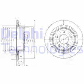 Brake Disc BG3765C Qashqai / Qashqai +2 I (J10, NJ10) 1.6 dCi MY 2013