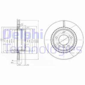 Bremsscheibe Bremsscheibendicke: 20mm, Ø: 300mm mit OEM-Nummer 34 216 764 651