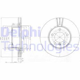 DELPHI  BG3998C Bremsscheibe Bremsscheibendicke: 24mm, Lochanzahl: 5, Ø: 300mm