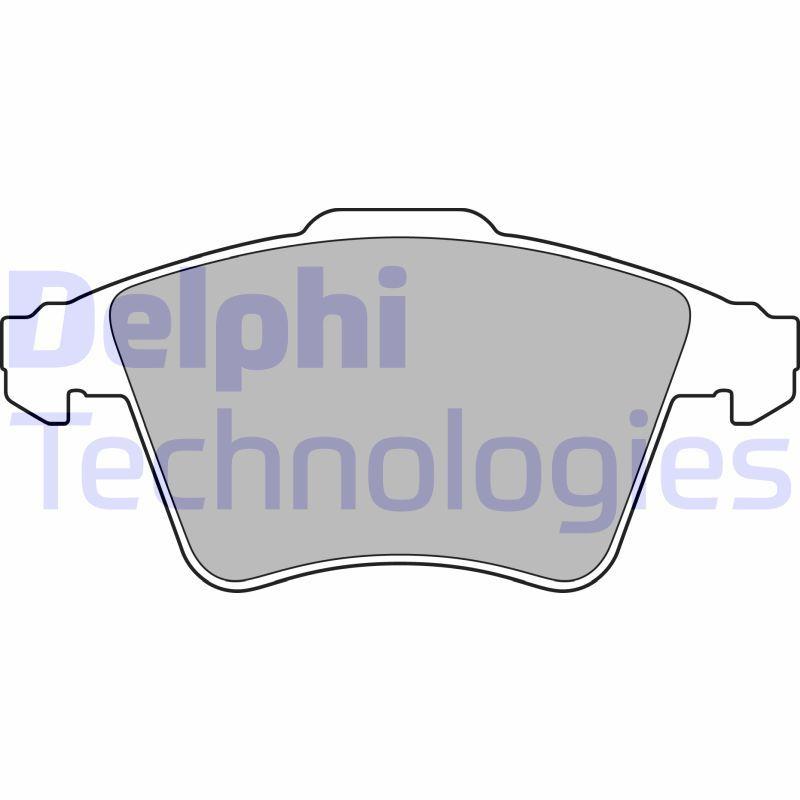 DELPHI  LP3142 Brake Pad Set, disc brake Height 2: 73mm, Height: 75mm, Thickness 1: 19mm, Thickness 2: 19mm