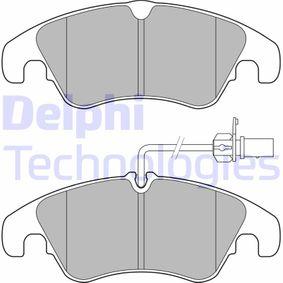 Bremsbelagsatz, Scheibenbremse Höhe 2: 73,5mm, Höhe: 72,9mm, Dicke/Stärke 2: 18,7mm mit OEM-Nummer 8R0 698 151 A