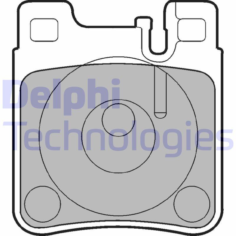 DELPHI  LP841 Bremsbelagsatz, Scheibenbremse Höhe: 70mm, Dicke/Stärke 1: 15mm