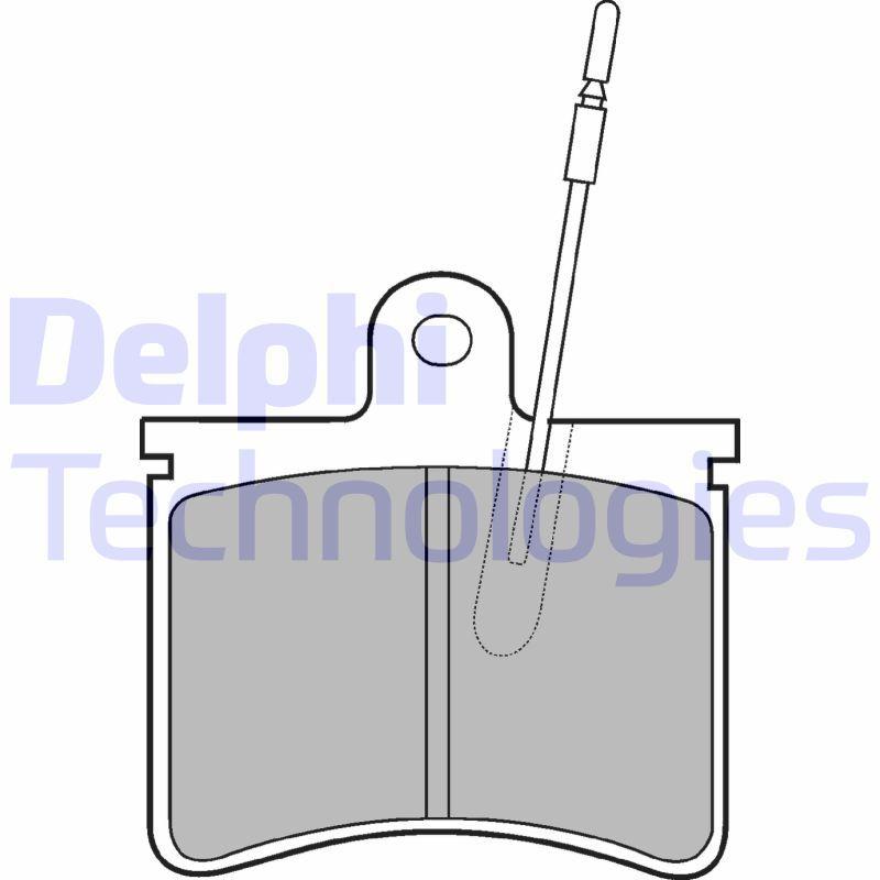 DELPHI  LP228 Bremsbelagsatz, Scheibenbremse Höhe: 70mm, Dicke/Stärke 1: 16mm