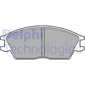 Bremsbelagsatz, Scheibenbremse Höhe 2: 49mm, Höhe: 49mm, Dicke/Stärke 1: 14mm, Dicke/Stärke 2: 14mm mit OEM-Nummer 5810124A00