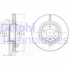 DELPHI  BG3939 Bremsscheibe Bremsscheibendicke: 30mm, Lochanzahl: 5, Ø: 321mm