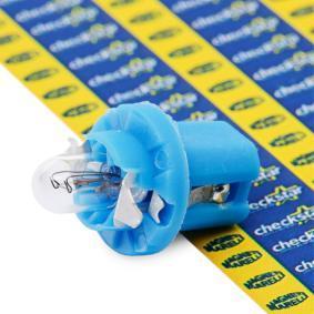 Bulb, instrument lighting B2,4W, BX8,5d, 1,2W, 12V 002051300000