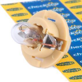 Bulb, instrument lighting B2,4W, BX8,4d, 1,5W, 12V 002053200000