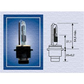 Bulb, spotlight D2R (gas discharge tube), 35W, 85V 002542100000 MERCEDES-BENZ C-Class Saloon (W203)