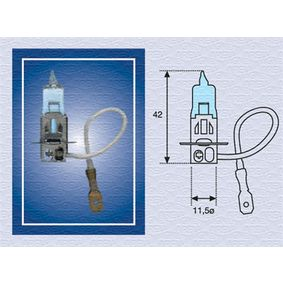 Bulb, fog light H3, PK22s, 55W, 12V 002604100000 FORD SIERRA (GBG, GB4)