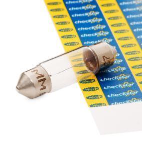 Bulb, licence plate light C21W, SV7-8, 12V, 3W 009417100000