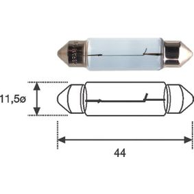 Bulb, licence plate light B2,4W, SV8,5-8, 12V, 10W 009461200000