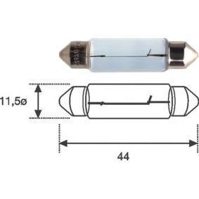 Bulb, licence plate light B2,4W, SV8,5-8, 12V, 10W 009461200000 MERCEDES-BENZ C-Class, E-Class, A-Class