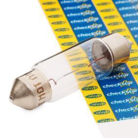 Крушка с нагреваема жичка, светлини на рег. номер B2,4W, SV8,5-8, 24волт, 10ват 009462200000
