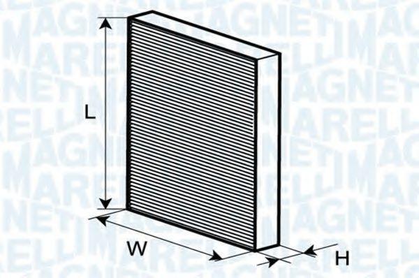 MAGNETI MARELLI  350203065980 Filter, Innenraumluft