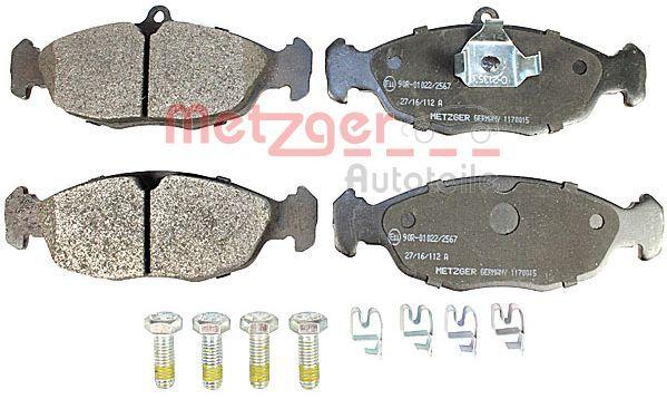 Комплект спирачно феродо, дискови спирачки METZGER 20547 оценка